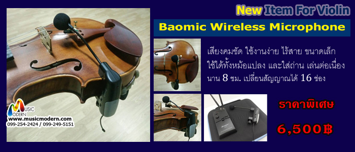 Baomic Wireless Microphone Violin